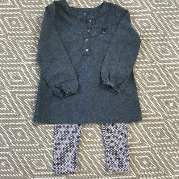 bf147b83a Carter's Matching Sets   Carters Denim Shirt Dress And Leggings 3t ...